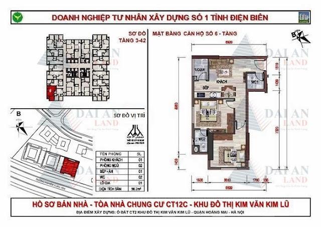 Căn 06 - Chung Cư Kim Văn Kim Lũ CT12C