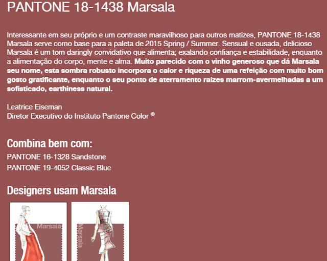 cores de 2015 Marsala