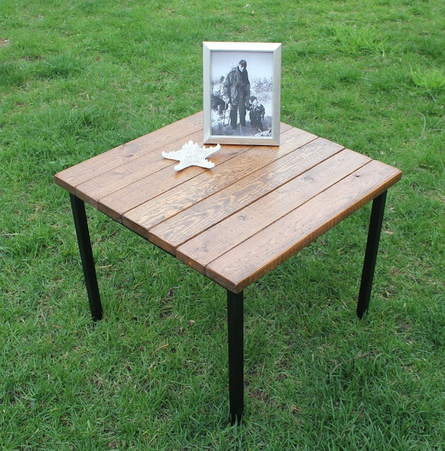 klubbo fjellse slats vintage industrial table ikea hackers ikea hackers. Black Bedroom Furniture Sets. Home Design Ideas