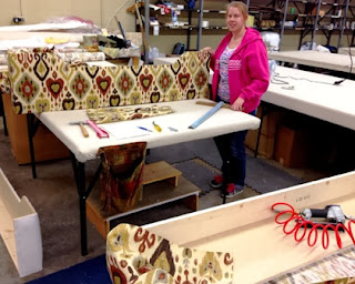 Ikat, prints, Wesco Fabrics custom workroom, cornice