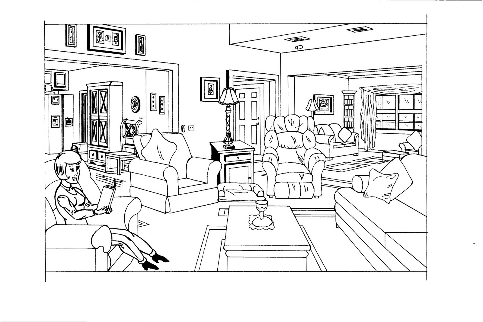 house room coloring pages - photo #36