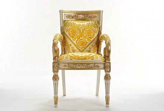 Royal king chair - Versace Lan 231 A Poltrona Revestida Em Ouro Studio