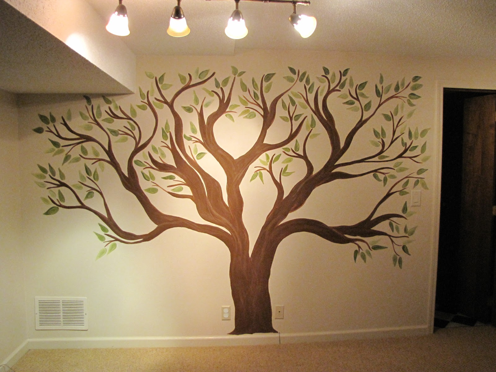 creative genius art family tree wall mural - Family Tree Design Ideas