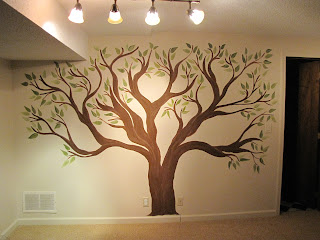 creative genius art family tree wall mural. Black Bedroom Furniture Sets. Home Design Ideas