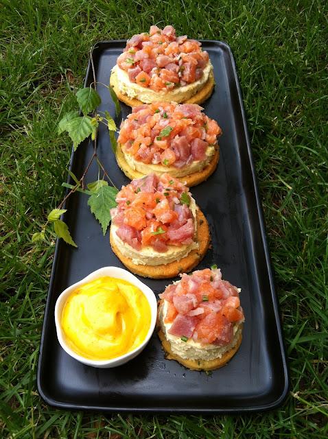 """alt=""""tartare de thon et saumon"""""""