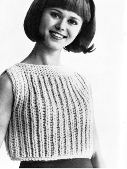 The Vintage Pattern Files Free 1960's Knitting Pattern Let's Call It A Shell