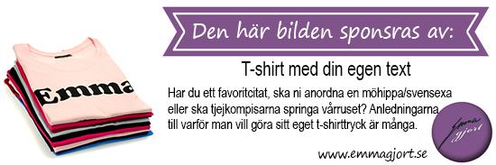 T-shirt med texttryck