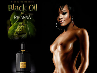 Rihanna nude on Black Oil cover