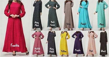 Hot Design Dress Polkadot Re Stock Atas Permintaan Ramai Kini Dengan Warna Warna Baru