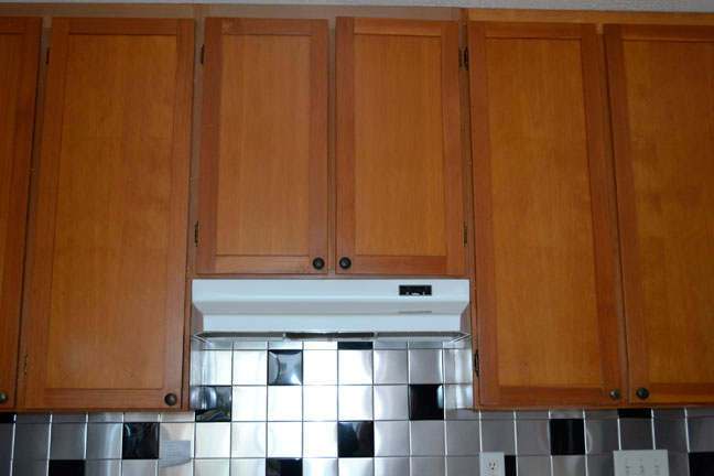 ... Hid The Grease Stained Wall Behind The Oven, But Nothing Could Hide The  Ugliness Of That Range Hood Or The Veneered Pressboard Cabinets That Were  Losing ...