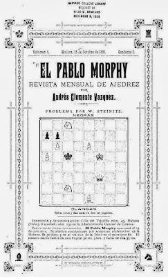 Portada del nº 1 de la revista El Pablo Morphy