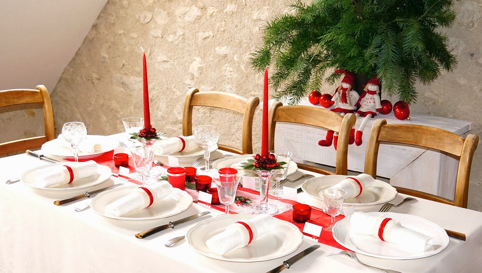 Ma boutique d co table d coration de table d corations for Decoration de noel rouge et blanc