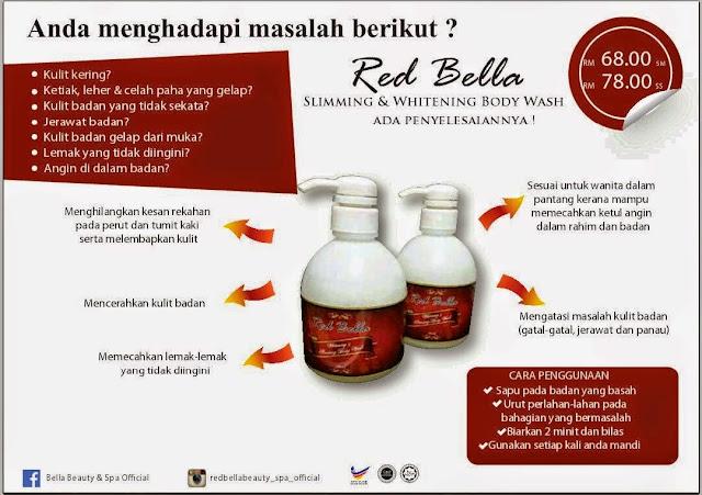 ... : RED BELLA BODY WASH - mandian pertama yg boleh menguruskan badan