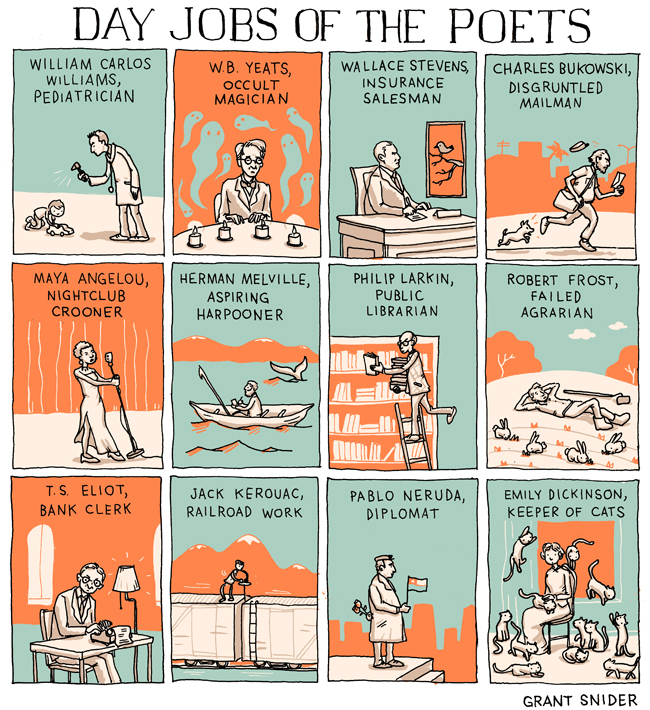 Day Jobs of the Poets von Grant Snider