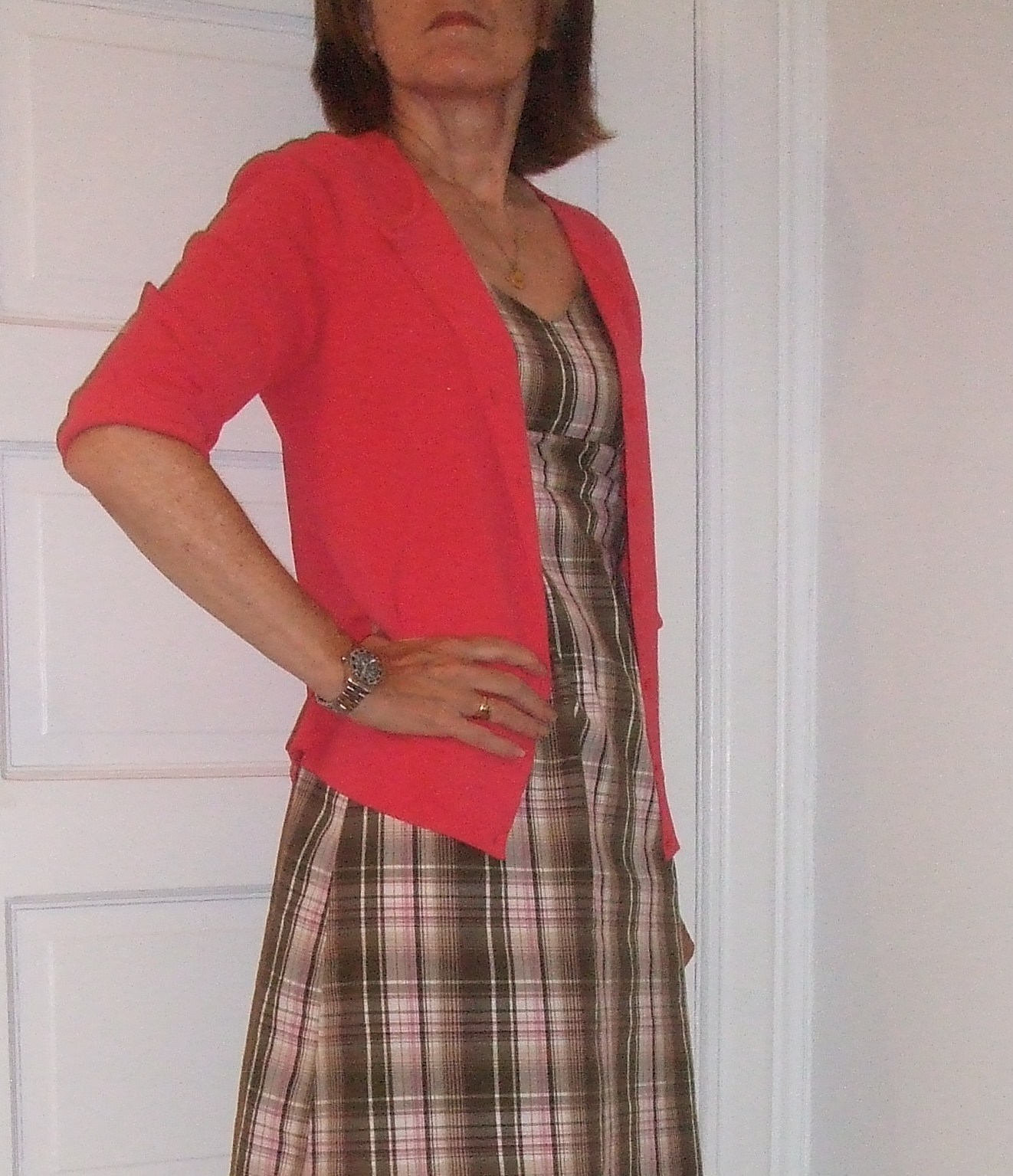 plaid dress for over 50 women