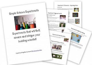 http://homeschoolden.com/2012/05/03/science-experiment-packet/