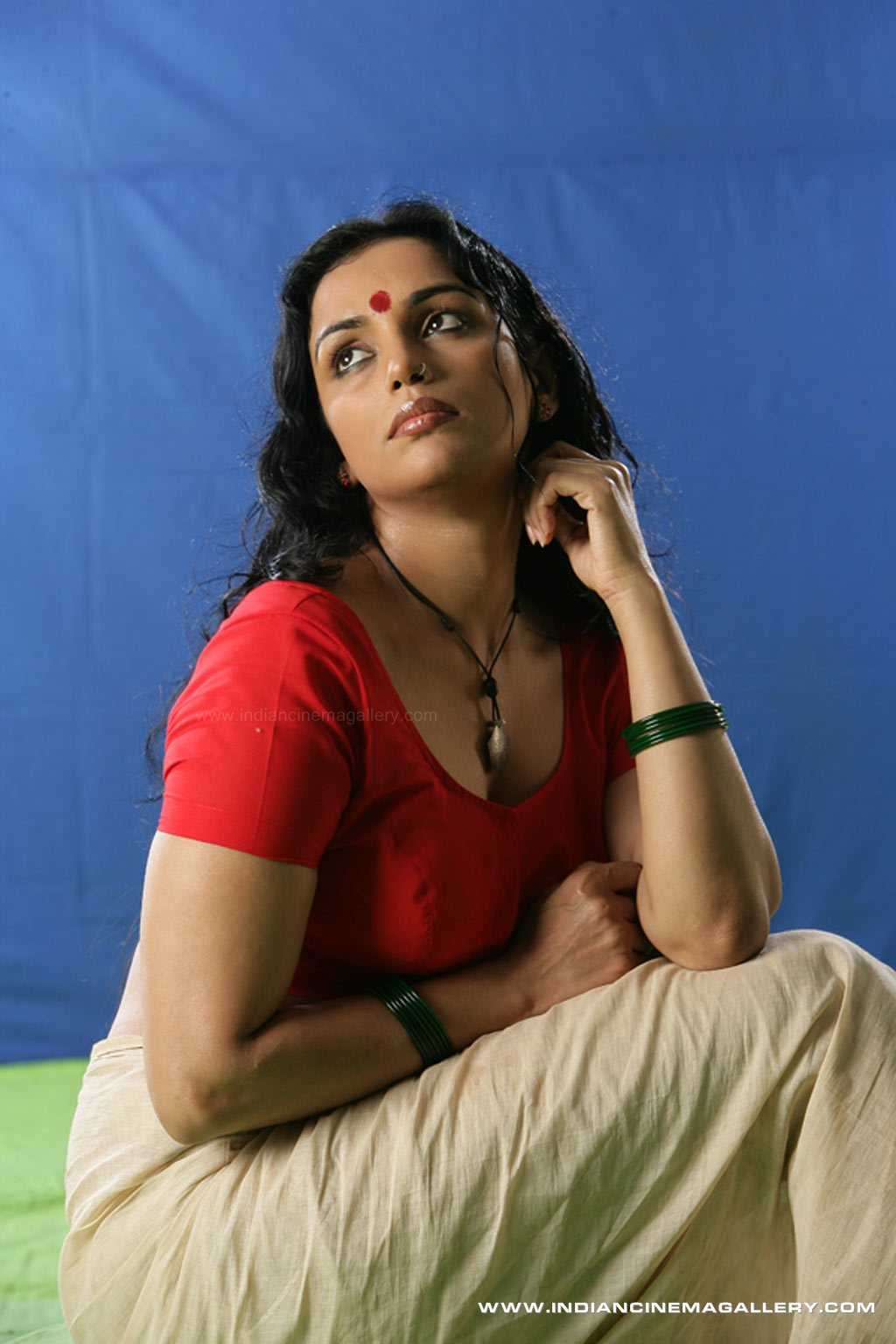 Shwetha Menon hot navels how photos in saree from Tamil movie Thaaram