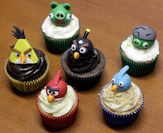 cupcakes, Angry Birds, Cupcakes geek, cupcakes nerds, cupckaes decorados