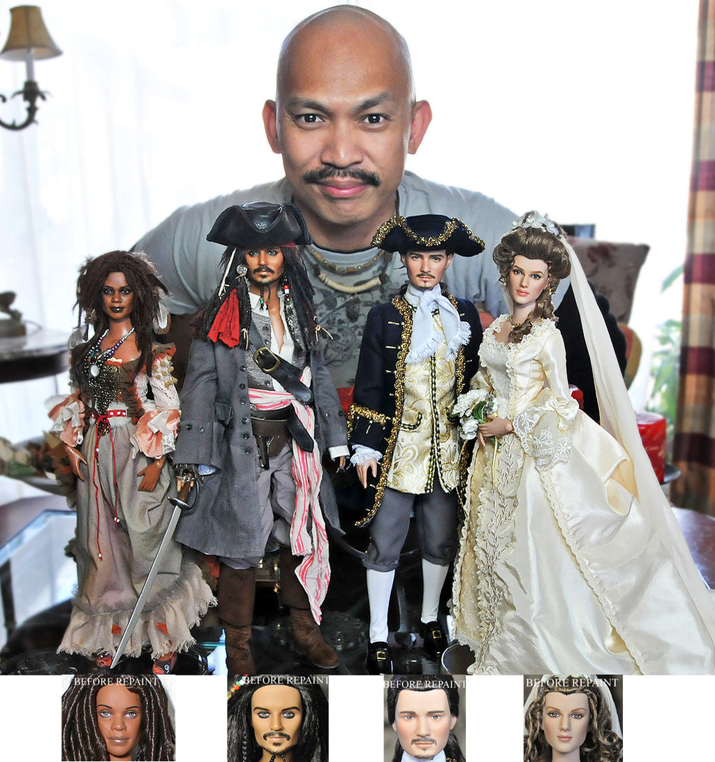 24-Pirates-Of-The-Caribbean-Cast-Noel-Cruz-Hyper-Realistic-Make-up-on-small-Dolls-www-designstack-co
