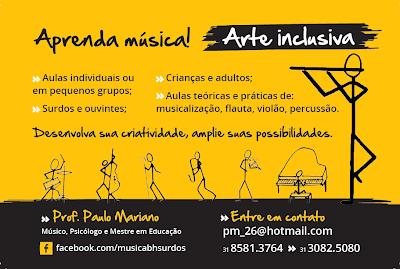 Professor de Música para ouvintes ou não (Belo Horizonte - MG)