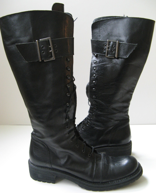 Model Home  Boots  Casual Boots  SoleMani Women39s Gabi Black Leather 12