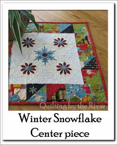 Winter Snowflake Center piece Free Tutorial at Freemotion by the River