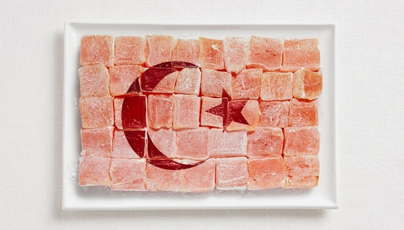 18 National Flags Made From Food - Turkey