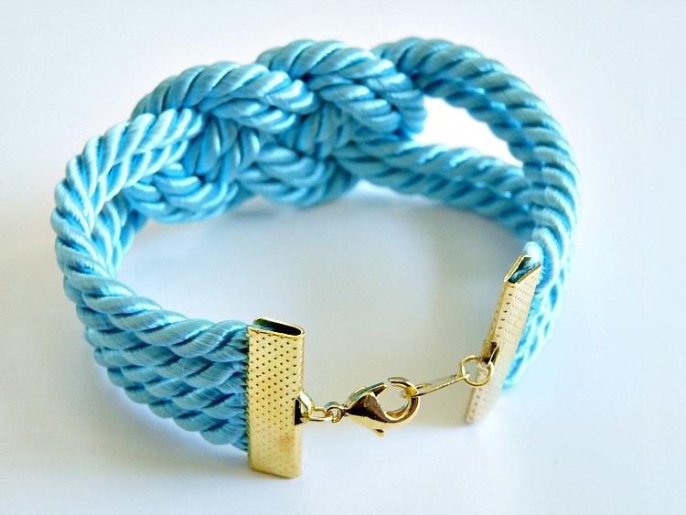 DIY Knotted silk cord bracelet
