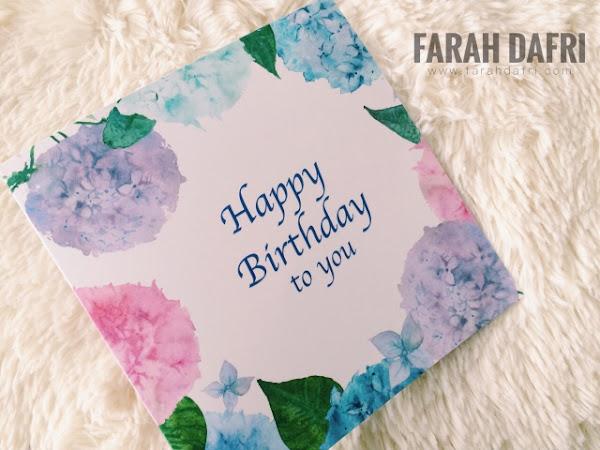 Hadiah Birthday daripada Marie France Bodyline