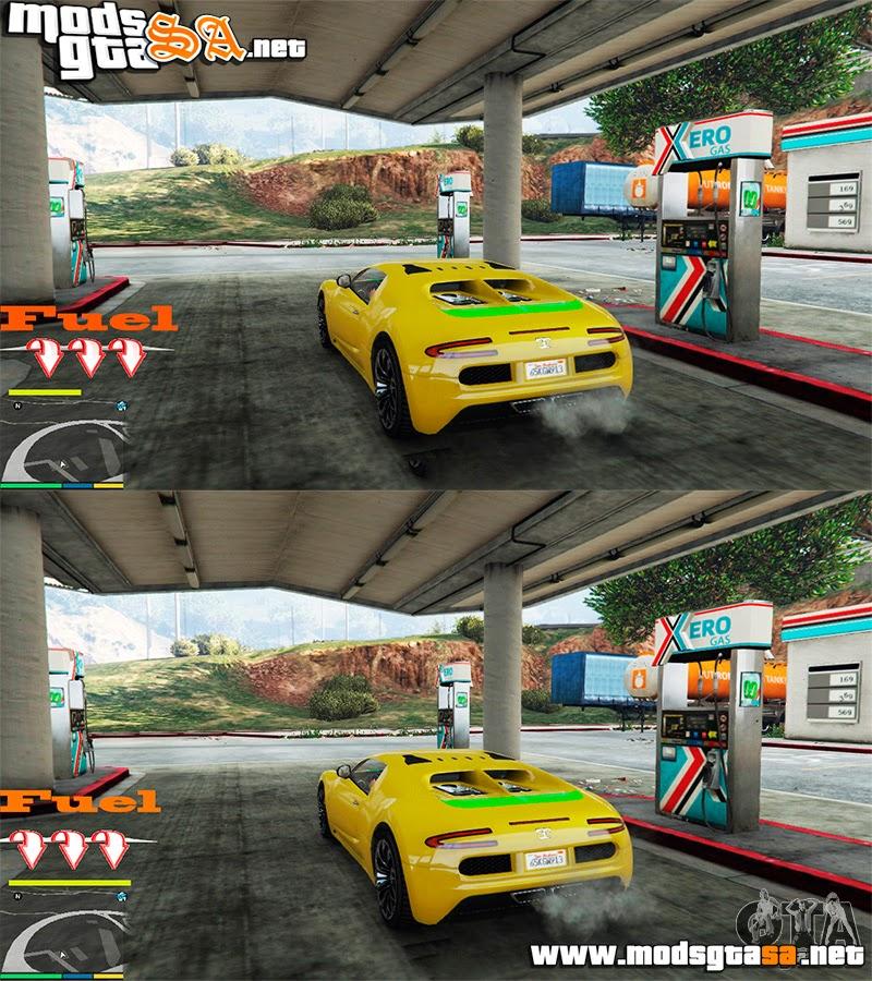 V - Mod Combustível v0.2 para GTA V PC