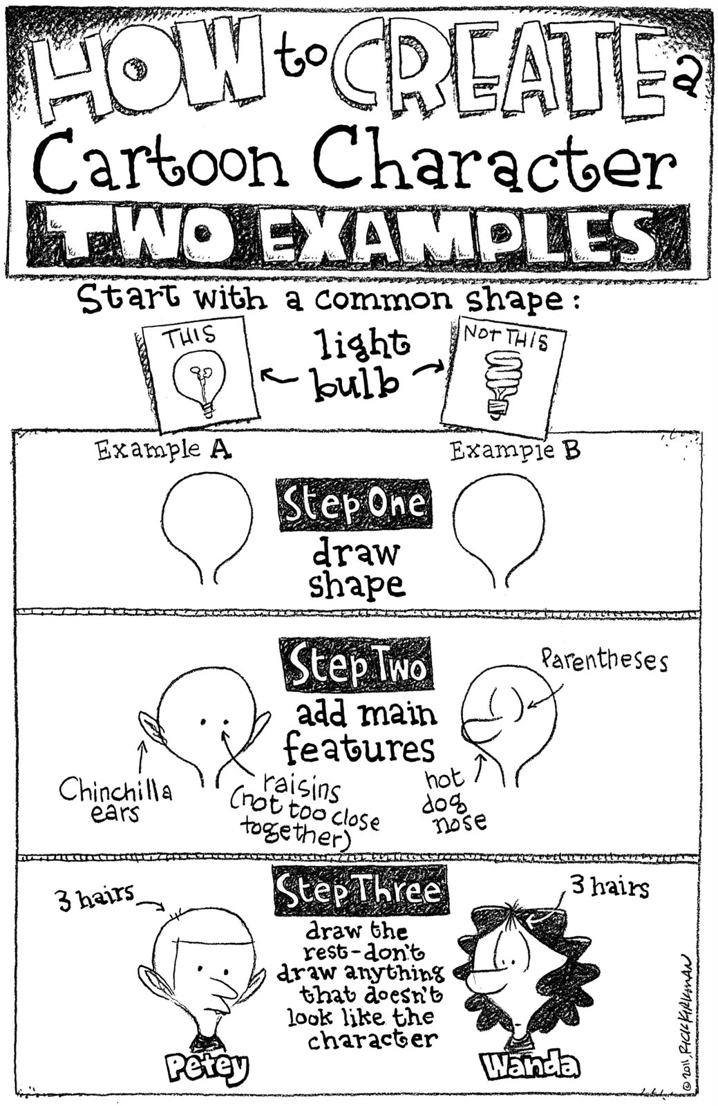 how to create a cartoon character
