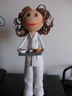 Fofucha enfermera de goma eva