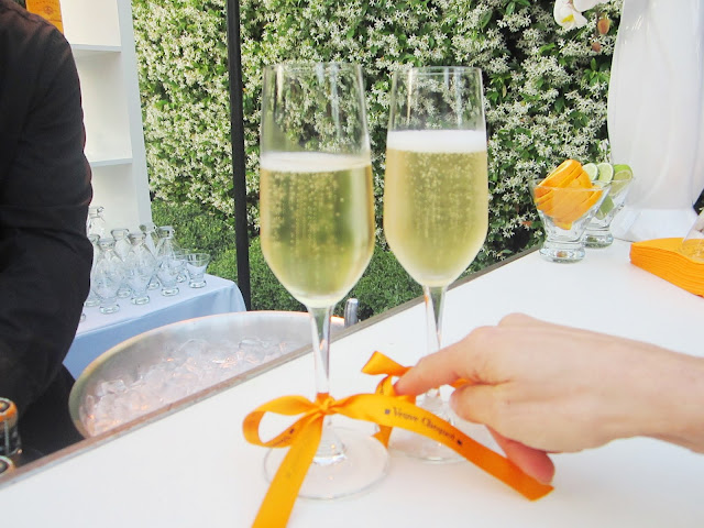 champagne at the Rose Tarlow event