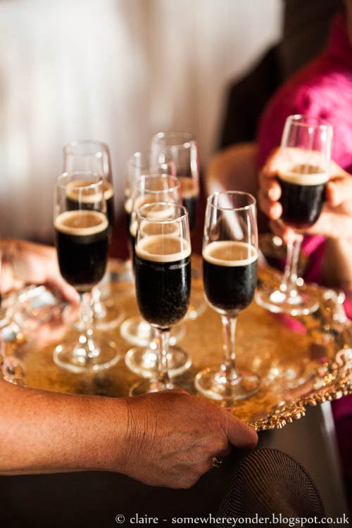 A Saint Patrick's Day wedding toast with Guinness