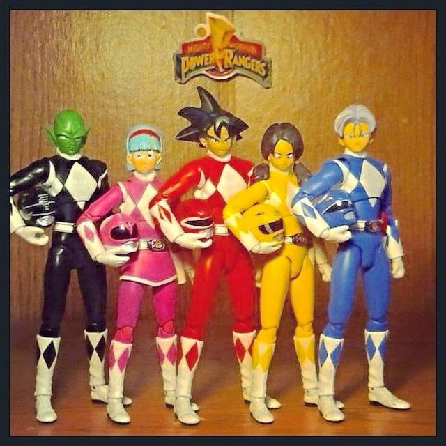 Figuras de Dragon Ball y Power Rangers