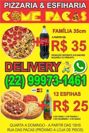 Come Pacas Pizzaria e Esfiharia