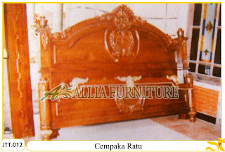 Tempat tidur kayu jati ukir jepara Cempaka Ratu murah