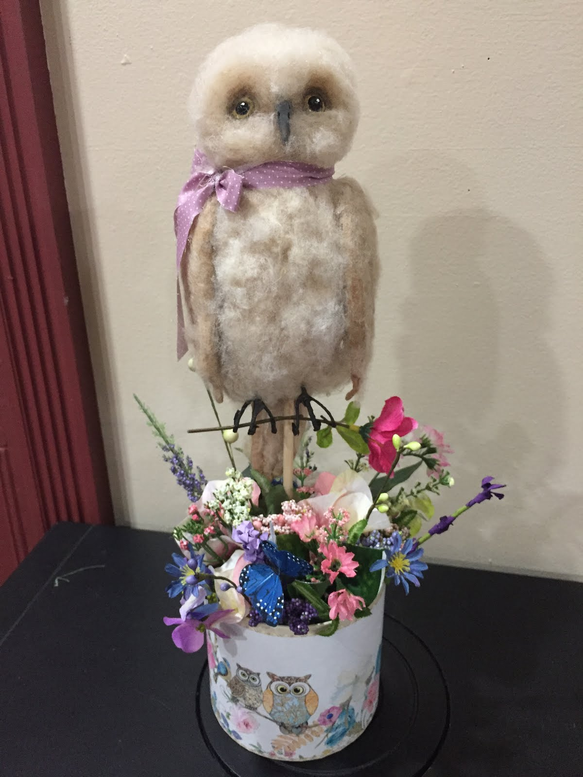 Baby Owl Flower Box