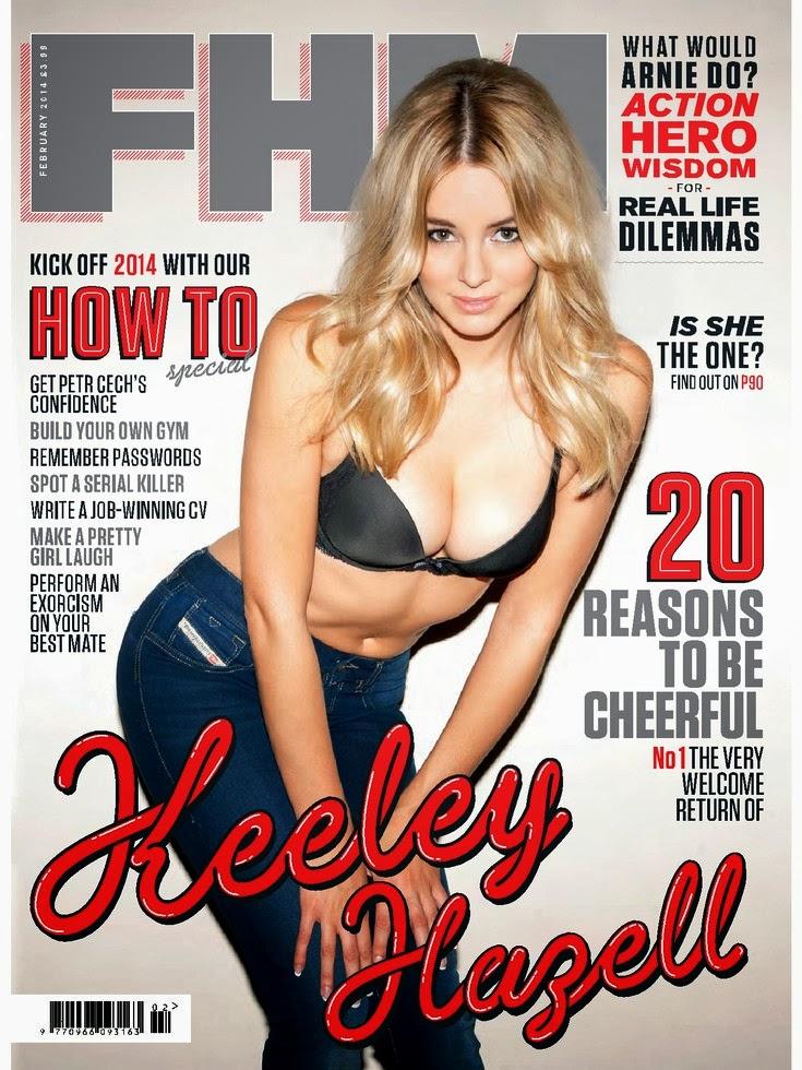 Magazine Photoshoot : Keeley Hazell Photoshoot For FHM Magazine UK February 2014 Issue