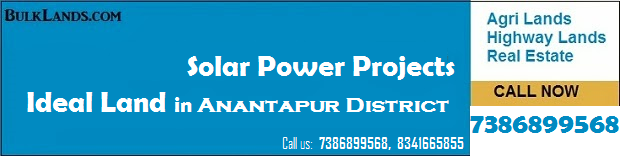 Bulk Land for Solar projects in Anantapur