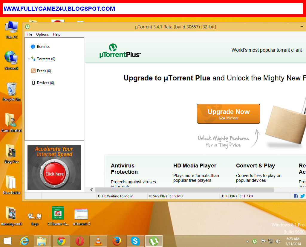 uTorrent Free Download Latest Version For Pc