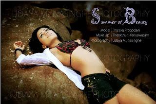 Sri Lankan upcoming model Tharaka Probodani beach hot