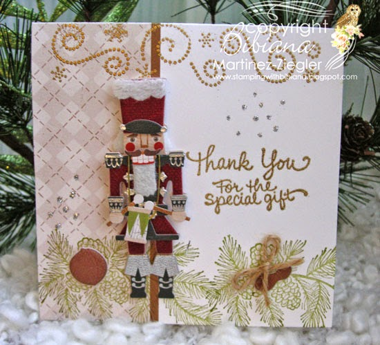 front thank you note with nutcracker sticker