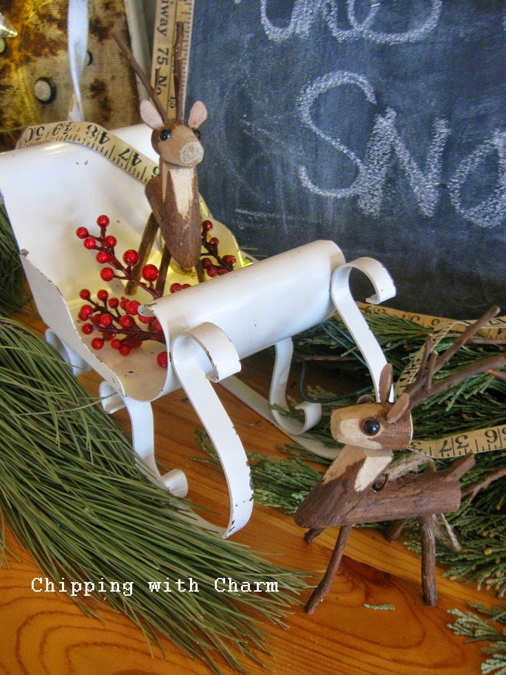 Chipping with Charm: Wooden Deer...http://www.chippingwithcharm.blogspot.com/