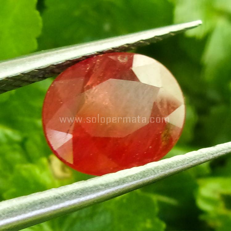 Batu Permata Orange Sapphire - SP732