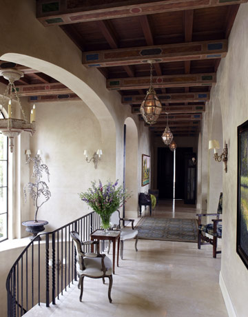 Home plans under the tuscan sun the dream lives on for Rustic mediterranean interior design
