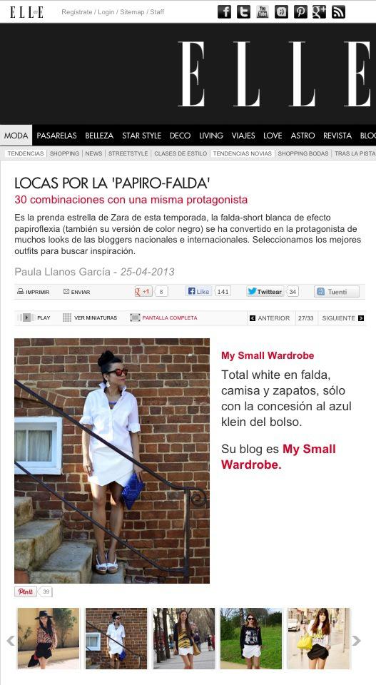 My Small Wardrobe Blog in Elle Spain