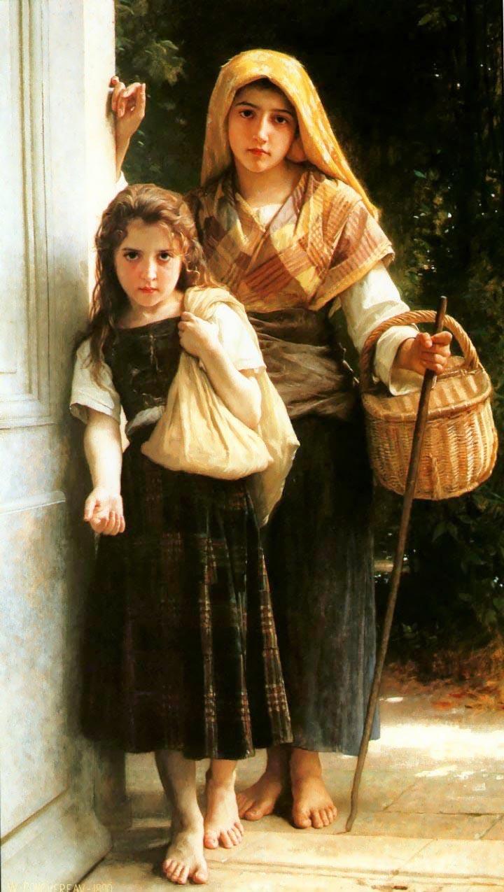 Little Beggars. 1880. Óleo sobre tela  - 161 x 93.5 cm