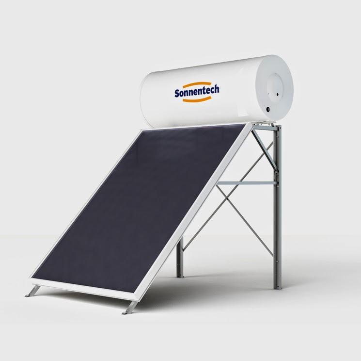 Ηλιακός θερμοσίφωνας Sonnentech με επιλεκτικό συλλέκτη 2m2