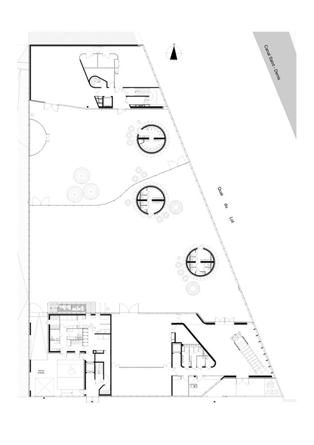 Floor plan of the site